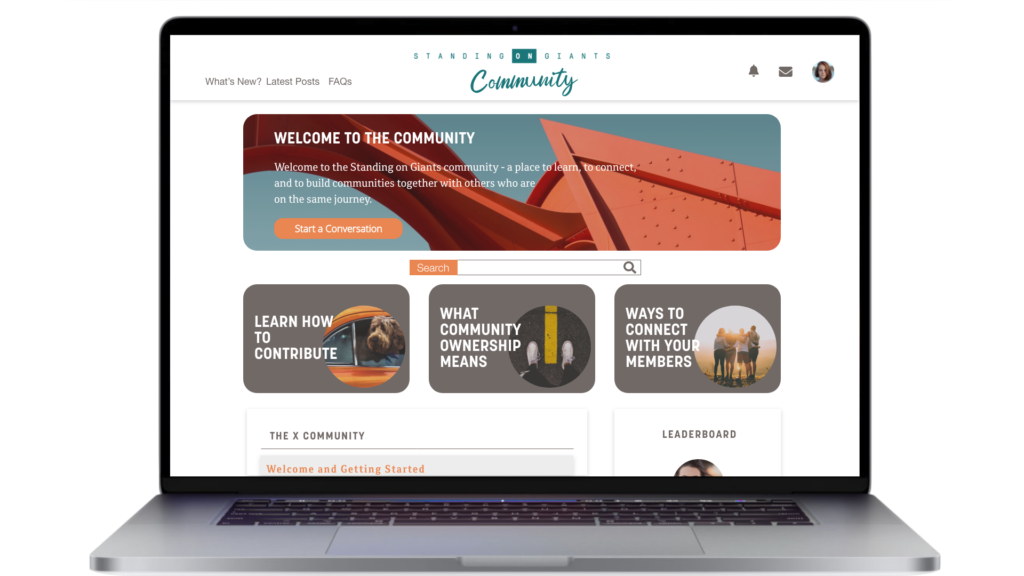 Community platform home page