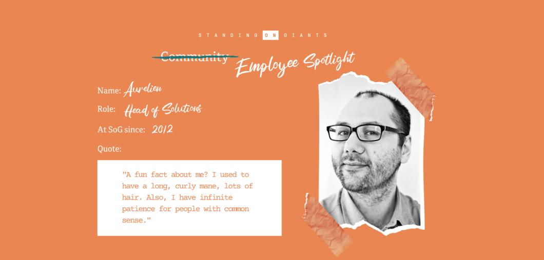 Employee Spotlight Aurelien Poma